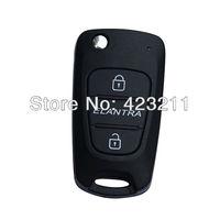 New Flip Folding Remote Key Shell Case Upgrade For Hyundai Old Elantra 2BT  FT0206