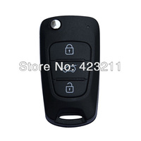 Flip Folding Remote Key Shell Case For Hyundai i20 i30 i35 iX20 iX35 3BT  FT0088