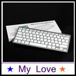 Free shipping manufacturers supply Universal Bluetooth Keyboard for Desktop PC Laptop Tablet PC white keyboard