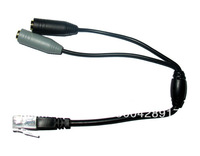 Headset Buddy 2X3.5MM Cable PC Headset to RJ9 RJ10 RJ22 Aastra Avaya Nortel Phone Adapter as your Buddy NEW