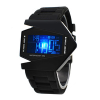 Free Drop shipping,bomber flighter led unisex casual sport digital watch,fashion gift for couples,lovers,children