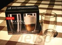 Original Bodum Thermo-glass Pavina Double Wall Thermo-Glasses 15 oz, Set of 2,Double layer Glass reusable Coffee Cup Mug 450ml