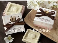 Free shipping owl scented soap savon wedding soap favors wedding gifts wedding souvenirs baby shower favor gift
