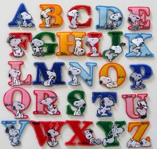 Free shipping transportation / full wholesale / 26 English letters fabric sticker / the clothes patch / clothes jewelry