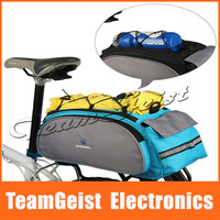 2013 Fashion New Bicycle Rear Seat Bag, Bike Multifunctional Shoulder / Handbag Bag,Blue / Black 13L