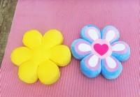 Flower Pillows for Kids Girls Room & Baby Nursery, Decorative Plush Throw Pillow