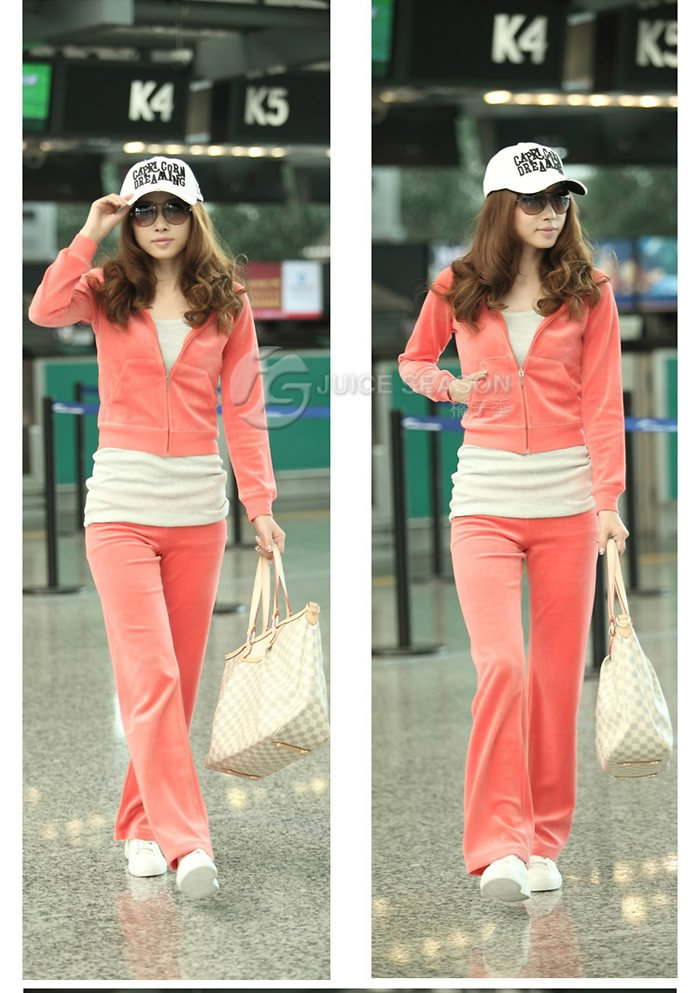 Free shipping Women BASIC TRACK SUIT Hoodie Jacket Long Flare Pants Set girls SPORTS wear wholesale lady leisure sportswear(China (Mainland))