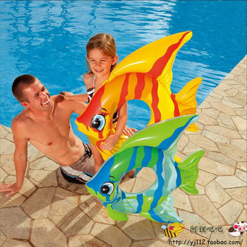 Intex tropical fish style child swim ring 59219 baby life buoy inflatable floating ring  free shipping