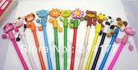 Free shiping!! Wholesale 100pcs/lot New Fashion animal pencils/office and study pencils-12 styles
