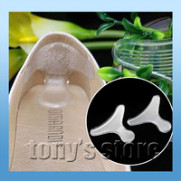 Heel Foot Feet Protector Lady Strappy Strip Gel silicone Foot Protection transparent massage patch T shape change your size