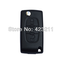 Folding Remote Key Shell Case For Citroen C2 C3 C4 C5 C6 Light Symbol 3BTN  FT0273