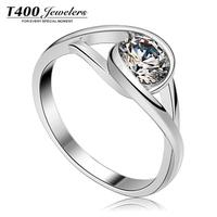 T400 inlaying zircon 925 silver birthday gift zircon ring 4169