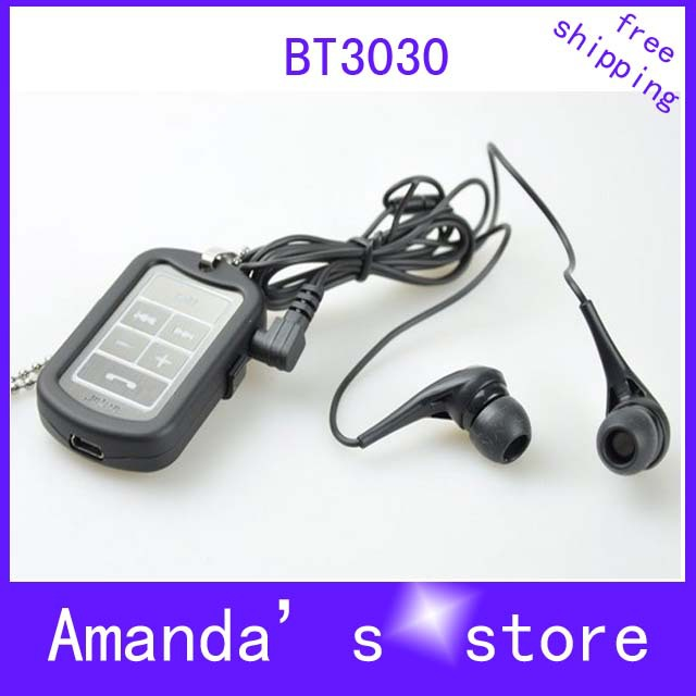 Hot Wireless Bluetooth Headset Earphone Headphone BT3030 BT-3030 Necklace Design Retail&Wholesale Free Shipping(China (Mainland))
