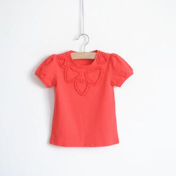 100% cotton plain cute girls clothing baby short-sleeve shirt 2013 T-shirt