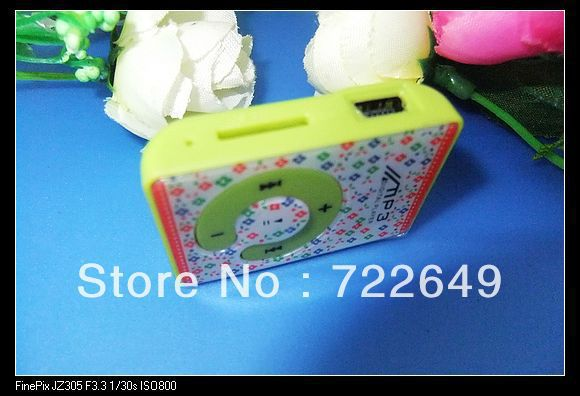 Cute Mini Clip Mp3 player C clip card support 2-8GB TF card 5 colors 30pcs Free DHL shipping(China (Mainland))