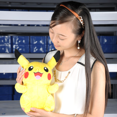 "13"" pikachu New pokemon Soft Stuffed Animal Plush toy smilling(China (Mainland))"