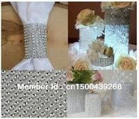 "Free shipping!4.5"" 10 yard Wedding Party Bling Diamond mesh Wrap/ ribbon, Rhinestone Mesh Crystal Ribbon, one roll, wholesale"