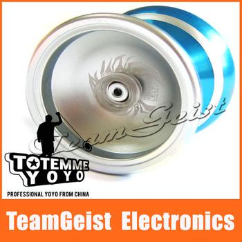 Hot Funcy silver fire power ice crystal MAGIC YOYO BALL Professional Yo-Yo Aluminum Toy Gift in Original Gift Box Free shipping