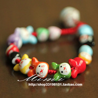Achievo rabbit lucky rabbit ceramic lucky cat bracelet