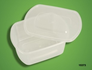 15373 fast food box lunch box microwave lunch box packing box oval shape 750ml 300 set(China (Mainland))
