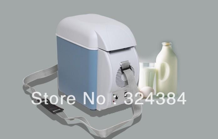 7.5L vehicle refrigerator 12V dc fridge mini car fridge, mini home cooler warmer fridger ,(China (Mainland))