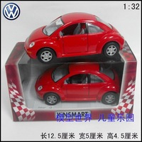 Alloy car model toy car soft world alloy WARRIOR vw beetle gift red