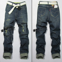 523 reminisced hole jeans male water wash straight jeans