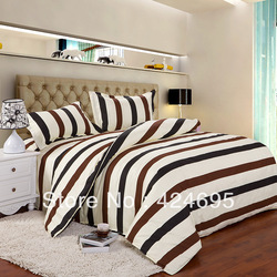 Color sreak pattern 4Pcs of queen size bedding sets luxury include Duvet Cover Bed sheet Pillowcase,Home textile,Free shipping(China (Mainland))