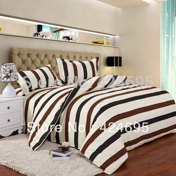 Color sreak pattern 4Pcs of queen size bedding sets luxury include Duvet Cover Bed sheet Pillowcase,Home textile,Free shipping