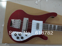 RIC wholesales ricken back RED 4 STRING BASS electric guitar free shipping