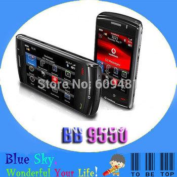 Good qualtiy 9550 mobile Original Unlocked BlackBerry Storm2 9550 Cell Phone 3G WIFI GPS Smart phone Free Shipping