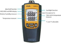 Temperature/Humidity/Dew Point Meter,Tester,3 in 1(8010)