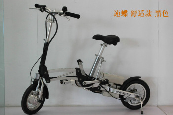 EMS ship Folding electric bicycle electric bicycle electric bicycle scooter comfortable black