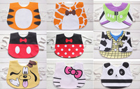 NEW Child double layer waterproof print cartoon baby bibs for babies kids boys girls clothes clothing bib wear