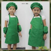 Free shipping Baby Apron Japanese Style Apron+ Hat +Oversleeps Per Set