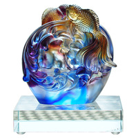 Colored glaze pisces business card seat deck etc decoration crafts home accessories