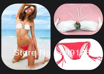 2013 new arrival vs bikini swimwear women swimsuit sexy crystal shoulder strap bathing suit fashion  bathing wear vs swimwear