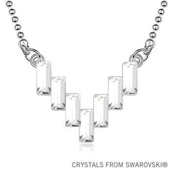 2013 New design! Ladder-shaped crystal pendant necklace made with Swarovski Elements