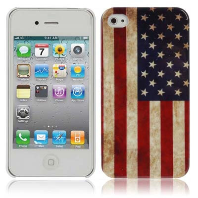 USA Flag Style Plastic Case for iPhone 4 / 4S / iPhone 4(CDMA)(China (Mainland))