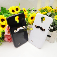 New Hot LEON Chaplin Sexy 3D Beard Mustache Hard Back Case Cover for Samsung Galaxy SIIII S4 i9500 ,100pcs