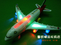 Bus child electric a380 assembling toy model airliner ultralarge