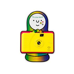 Camera yellow peace yellow wide-angle 135 film camera