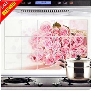 High temperature resistant oil at home wall stickers quality aluminum foil greaseproof paper film kitchen cabinet(China (Mainland))