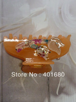 Clear Amber Plastic with Flower Hair Claw for Lady