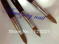 Free Shipping !!10pcs/lot wholesale #20  kolinsky acrylic nail brush for nail painting