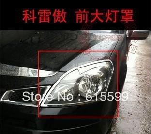 Free shipping! High quality! Fashion! ABS chrome head light lamp cover trim for RENAULT KOLEOS Renault SamSung QM5 2008-2012