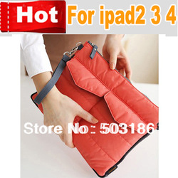 Multi-function zipper Nylon handbag bag for ipad 2 3 4 Portable Storage bag in bag for tablet pc,Free shipping(China (Mainland))
