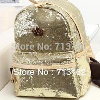 2PM Nichkhun Girls' Generation J.estina Embroider Bling Bling Shiny Backpack Sequin School Bag for Girl & Women Free Shipping
