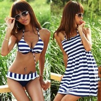 2013 Star Stripes Sexy  women's/ juniors  plus size  swimwear/bathing suits/swimsuit  XXL XXXL free shipping