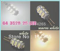 New G4 SMD 26 LED Lights 3528 DC12V 2W RV Marine Boat Camper Warm White Bulb Lamp Free Shipping